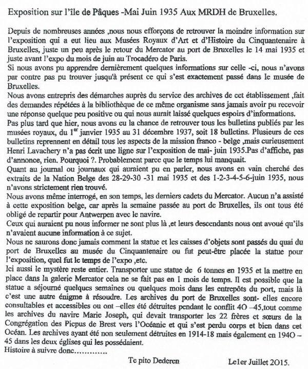 """255e article de FD: """"Exposition sur l'IDP en mai-juin 1935 aux MRAH de Bruxelles"""""""