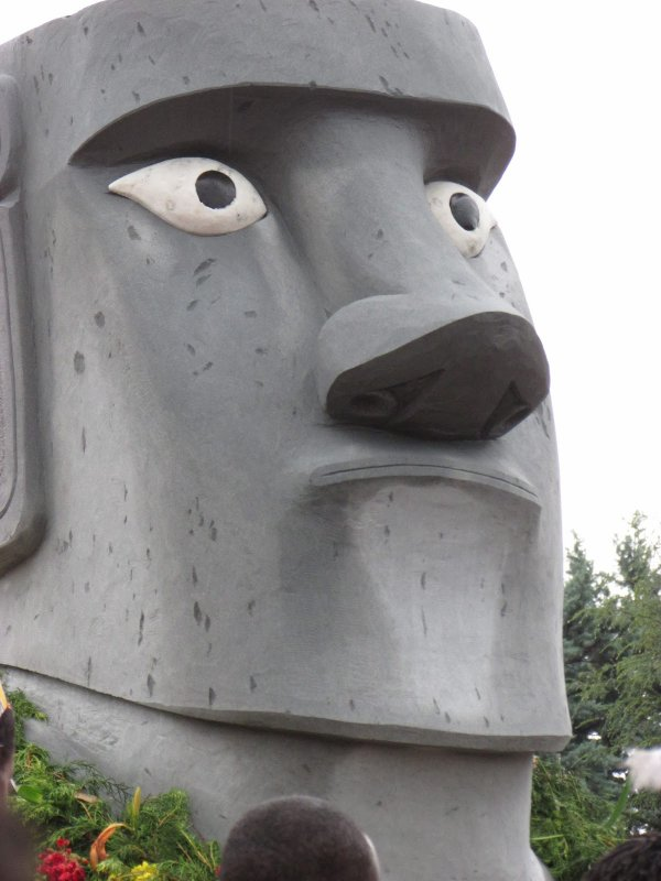 Sculpture d'un moai à Chiuduno (Nord de l'Italie) - 4