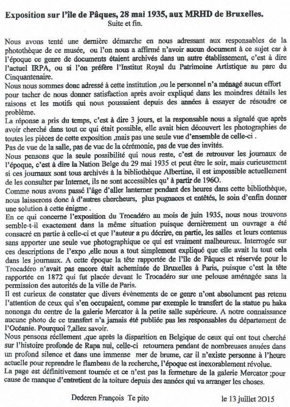 """258e article de FD: """"Exposition sur l'IDP aux MRAH de Bruxelles (suite & fin) - 28/05/1935"""