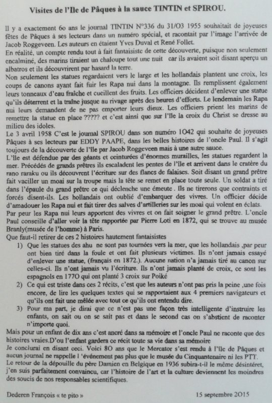 """261e article de FD: """"Visites de l'IDP à la sauce TINTIN & SPIROU"""" (1/2)"""