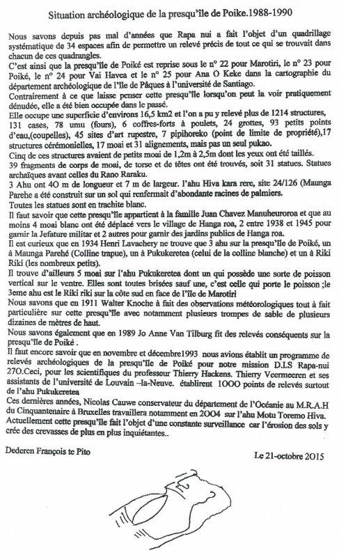"""270e article de FD: """"Situation archéologique de la presqu'île de Poike (1988-1990)"""""""