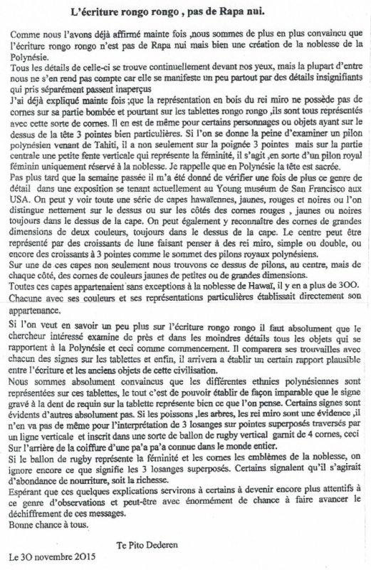 """273e article de FD: """"L'écriture rongo rongo n'est pas de Rapa Nui !"""""""