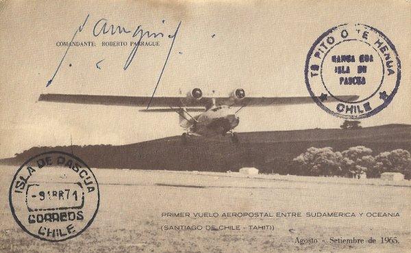 """275e article de FD: """"50e anniversaire de la liaison aérienne Santiago > Tahiti"""""""