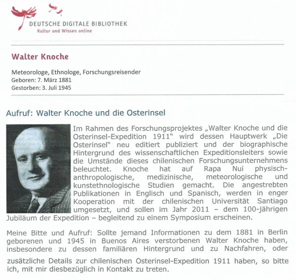 """Le livre """"Die Osterinsel"""" de Walter Knoche (1925) est libre de droit depuis le 01/01/2016 - 1"""