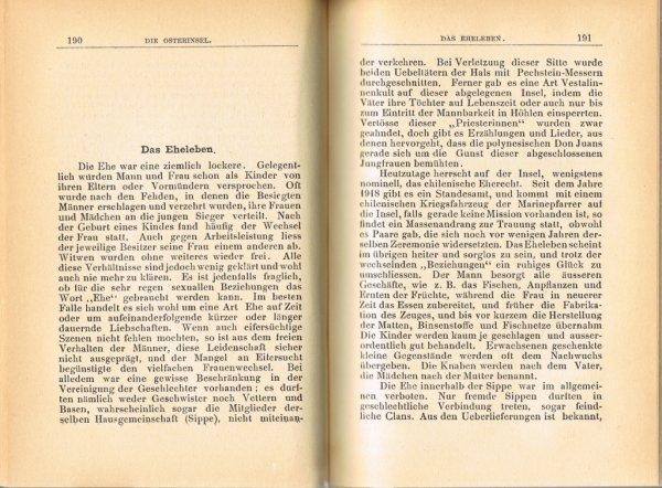 """Le livre """"Die Osterinsel"""" de Walter Knoche (1925) est libre de droit depuis le 01/01/2016 - 15"""