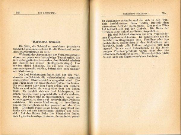 """Le livre """"Die Osterinsel"""" de Walter Knoche (1925) est libre de droit depuis le 01/01/2016 - 17"""