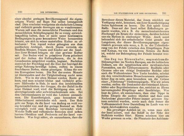 """Le livre """"Die Osterinsel"""" de Walter Knoche (1925) est libre de droit depuis le 01/01/2016 - 19"""