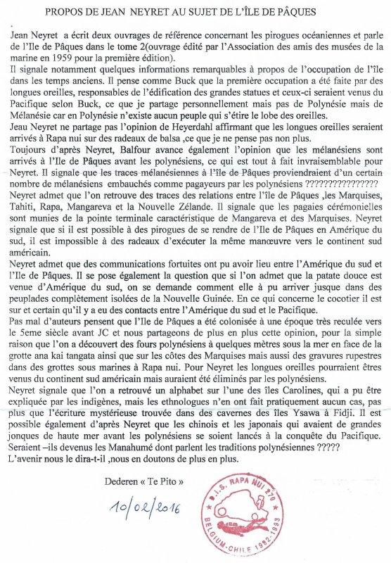 """282e article de FD: """"Propos de Jean Neyret au sujet de l'île de Pâques"""""""