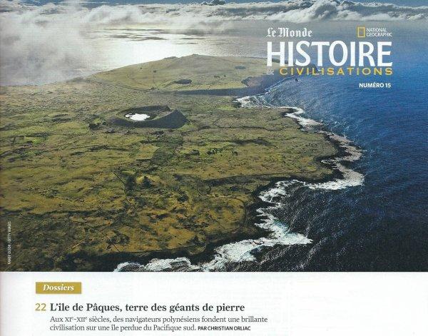 """Magazine: """"Histoire & civilisations"""" n° 15 (03/2016) - article sur l'IDP (pages 22 à 35) + critique de FD"""