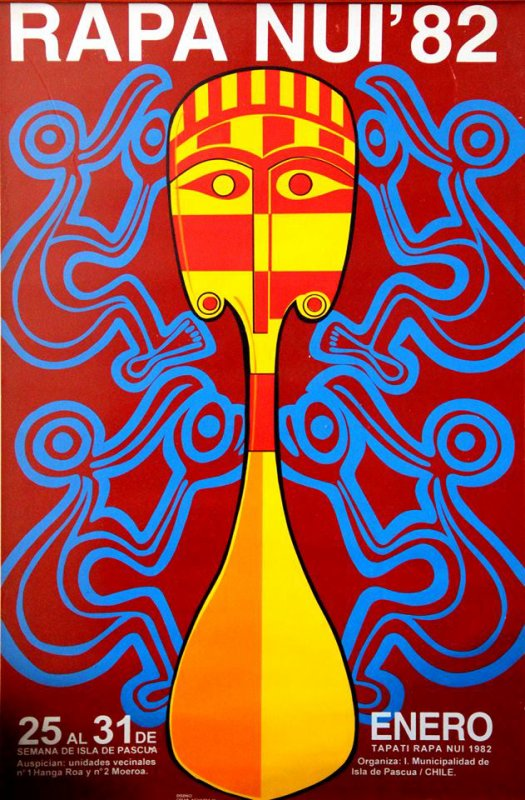 Affiches du Tapati 1980, 1981, 1982, 1983, 1984, 1985, 1986 & 1987