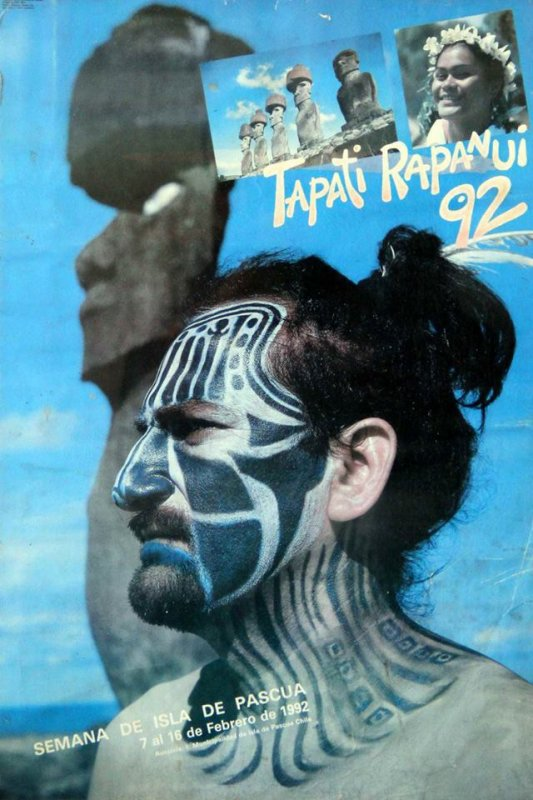 Affiches du Tapati 1988, 1989, 1990, 1991 & 1992