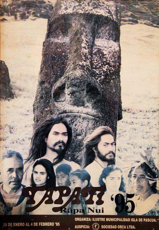 Affiches du Tapati 1993, 1994, 1995, 1996, 1997, 1998 & 1999