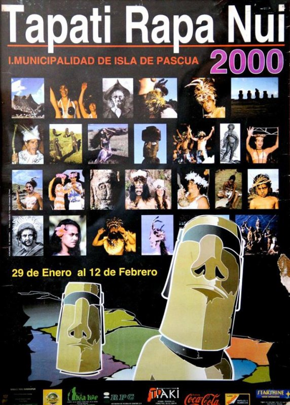 Affiches du Tapati 2000, 2001, 2002, 2003, 2004, 2005, 2006 & 2007