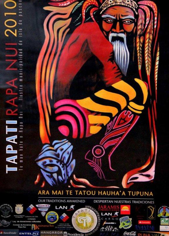 Affiches du Tapati 2008, 2009, 2010, 2011, 2012, 2013 & 2014