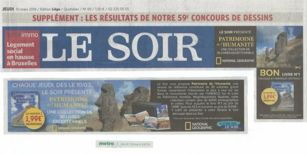 "Journal ""Le Soir"" du 10/03/2016 - 1"