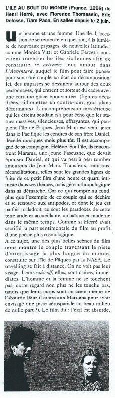"""Film """"L'île au bout du monde"""" (1999) de Henri Herré - 2"""