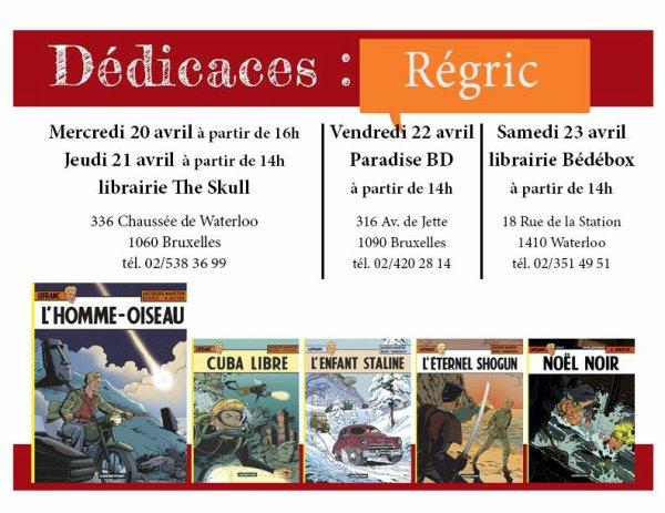 """Séances de dédicaces de la BD: """"L'homme-oiseau"""" (04/2016)"""