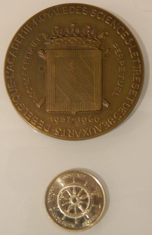 Médailles d'Henri Lavachery & du Mercator (recto & verso)