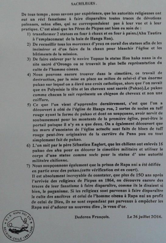 """294e article de FD: """"Sacrilèges"""""""