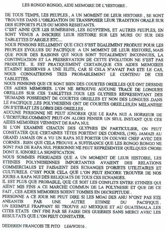 """297e article de FD: """"Les rongo rongo, aide-mémoire de l'histoire"""""""