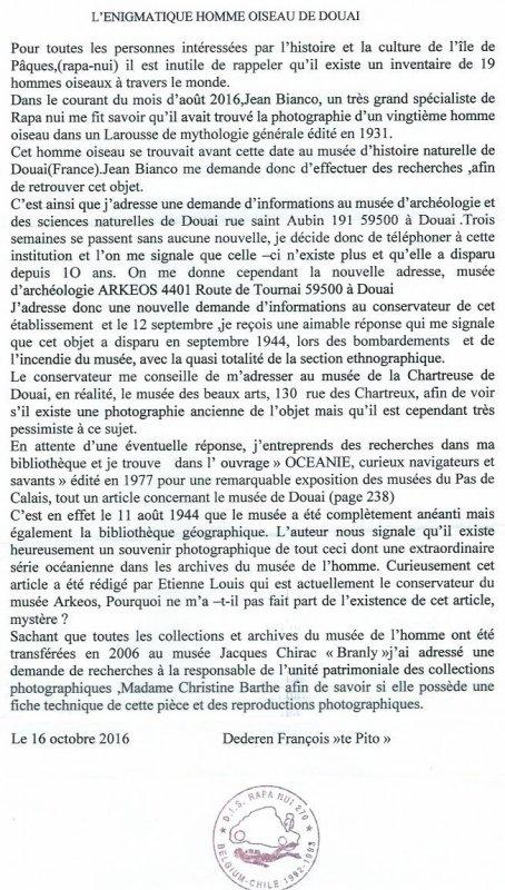 """298e article de FD: """"L'énigmatique homme oiseau de Douai"""""""