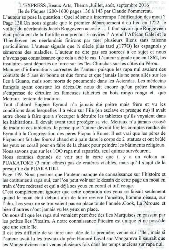 "Critique de François Dederen de la revue ""L'Express - Thema"" n° 11 - juillet-août-septembre 2016"