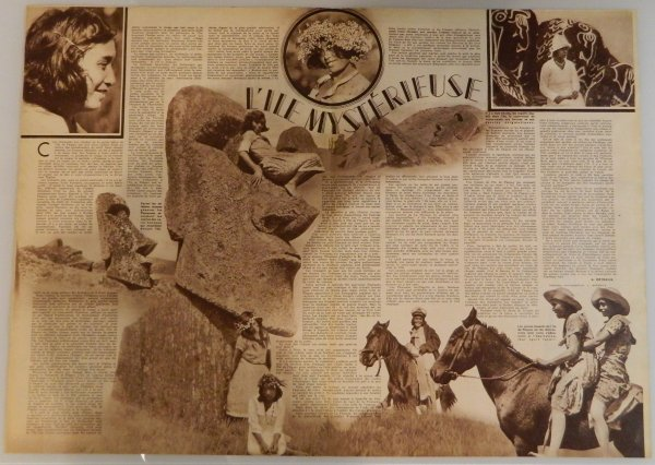 """Revue """"VOILA"""" n° 227 du 27/07/1935 - Article sur l'IDP: """"L'île mystérieuse"""" - 1"""