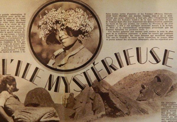 """Revue """"VOILA"""" n° 227 du 27/07/1935 - Article sur l'IDP: """"L'île mystérieuse"""" - 2"""