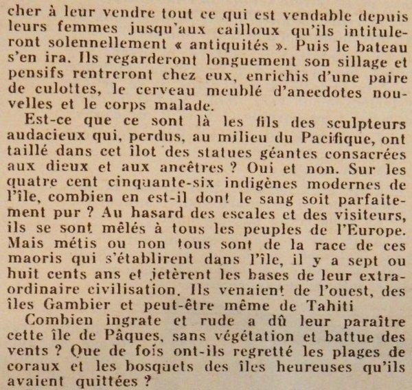 """Revue """"VOILA"""" n° 227 du 27/07/1935 - Article sur l'IDP: """"L'île mystérieuse"""" - 3"""