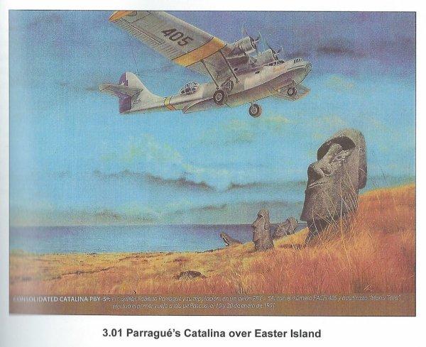 """303e article de FD: """"65e anniversaire du premier vol vers l'île de Pâques - Parrague - Taylor"""""""