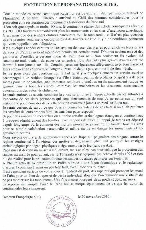 "304e article de FD: ""Protection et profanation des sites"""