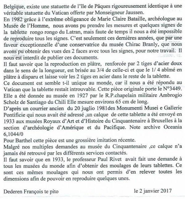 """309e article de FD: """"Le faux poisson de Tahiti et la fausse tablette du Latran"""""""