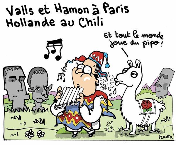 Dessin de Plantu à la suite du 1er tour des primaires de la gauche (23/01/2017)