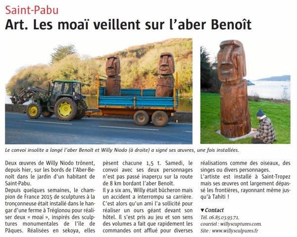 """Extrait du journal """"Le Télégramme"""" du 12/02/2007 envoyé par Bernard PRONOST (Bretagne)"""