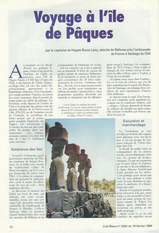 """Revue """"Cols Bleus"""" n°2294 du 18/02/1995 (1/2)"""