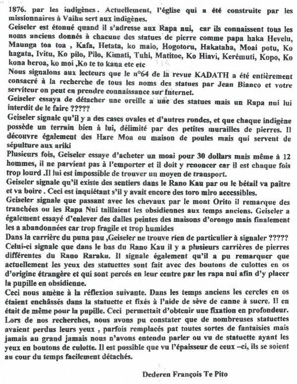 """316e article de FD: """"Geiseler 1883 - quelques informations curieuses"""""""