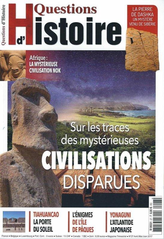 """Revue: """"Questions d'histoire"""" n° 27 - avril/mai/juin 2017 - article sur l'IDP > pages 30 à 43"""