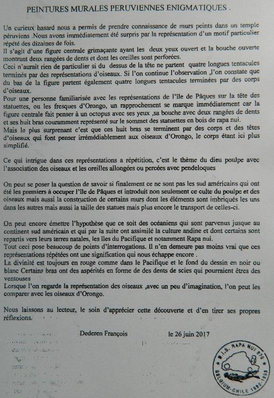 """322e article de FD: """"Peintures murales péruviennes énigmatiques"""""""