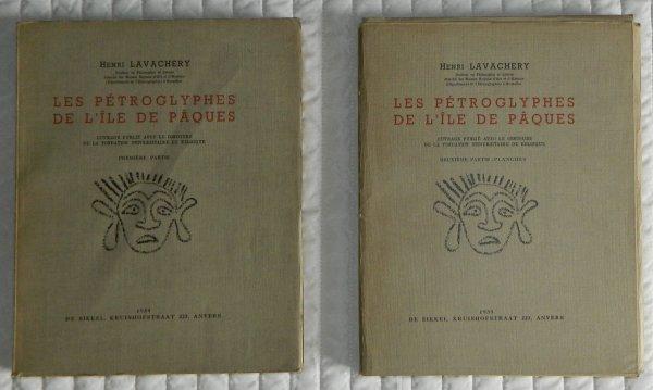 """Livre """"Les pétroglyphes de l'île de Pâques"""" (1939) d'Henri Lavachery - 1"""