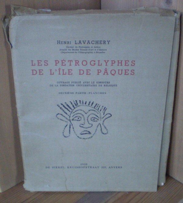 """""""Les pétroglyphes de l'île de Pâques"""" (1939) en vente sur ebay depuis le 04/07/2017"""