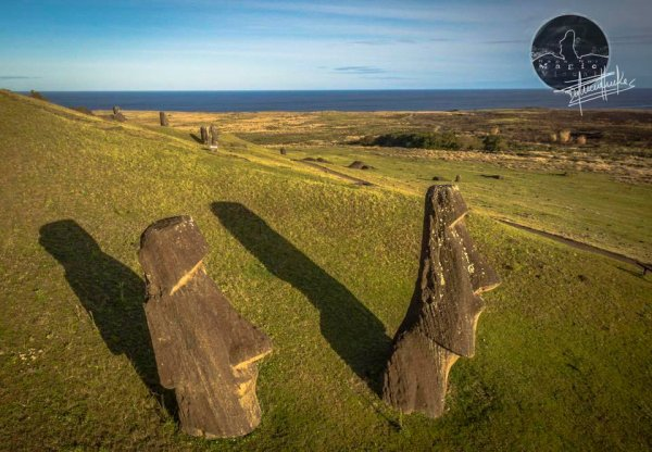 Rapa Nui Magic Visual - Le Rano Raraku vu par un drône