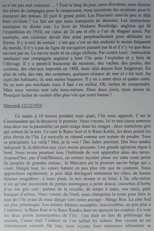 Récit d'un passager anonyme du Mercator lors du voyage à l'île de Pâques en 1934-1935 - 1
