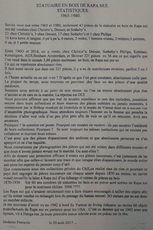 """325e article de FD: """"Statuaire en bois de Rapa Nui - 1965 > 1980"""""""