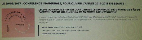 """327e article de FD: """"Conférence sur l'IDP aux MRAH par Nicolas Cauwe, le 29/09/2017"""""""