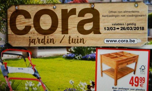 Vu dans le folder CORA - jardin du 13/03 > 26/03/2018