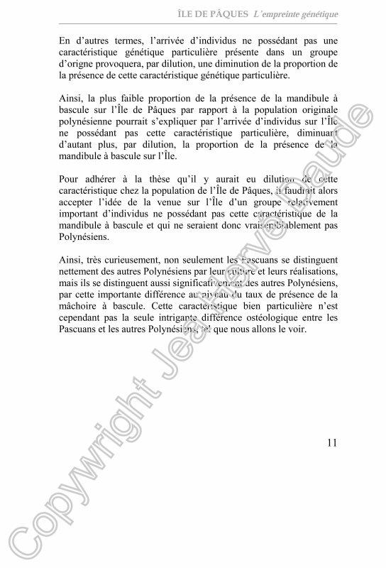 """""""ILE DE PAQUES - L'empreinte génétique"""" de Jean Hervé Daude (2/3)"""