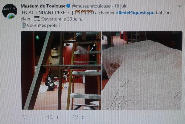 Préparatifs de l'exposition de Toulouse (twitter - 06/2018)