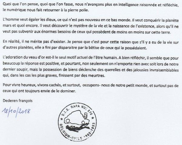 """369e article de FD: """"Conférences sur Rapa Nui - 09 & 10/2018"""""""