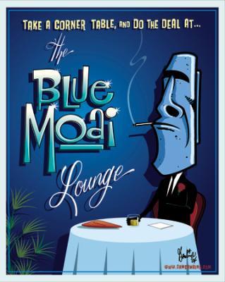 The Blue Moai
