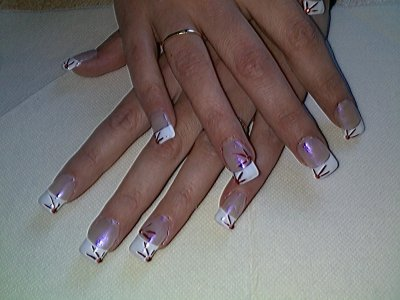 pose en gel french strass